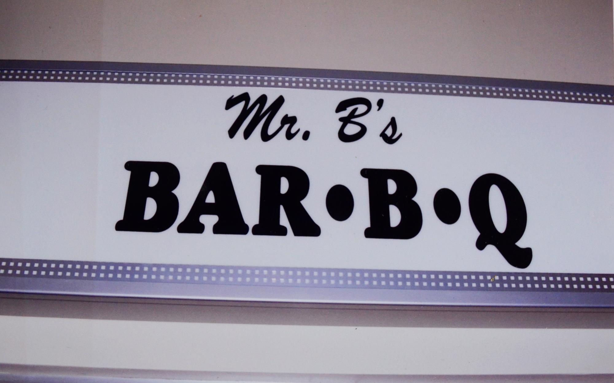 Mr. B BBQ Sign