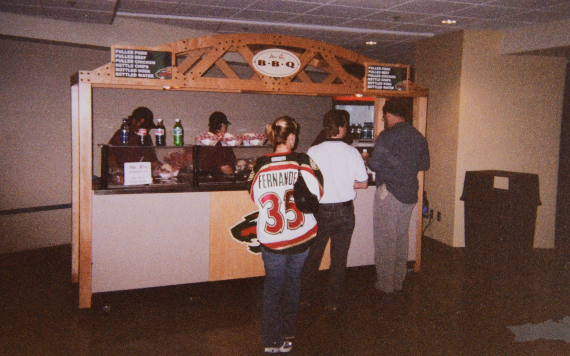 Mr. B food stand with Wild fans