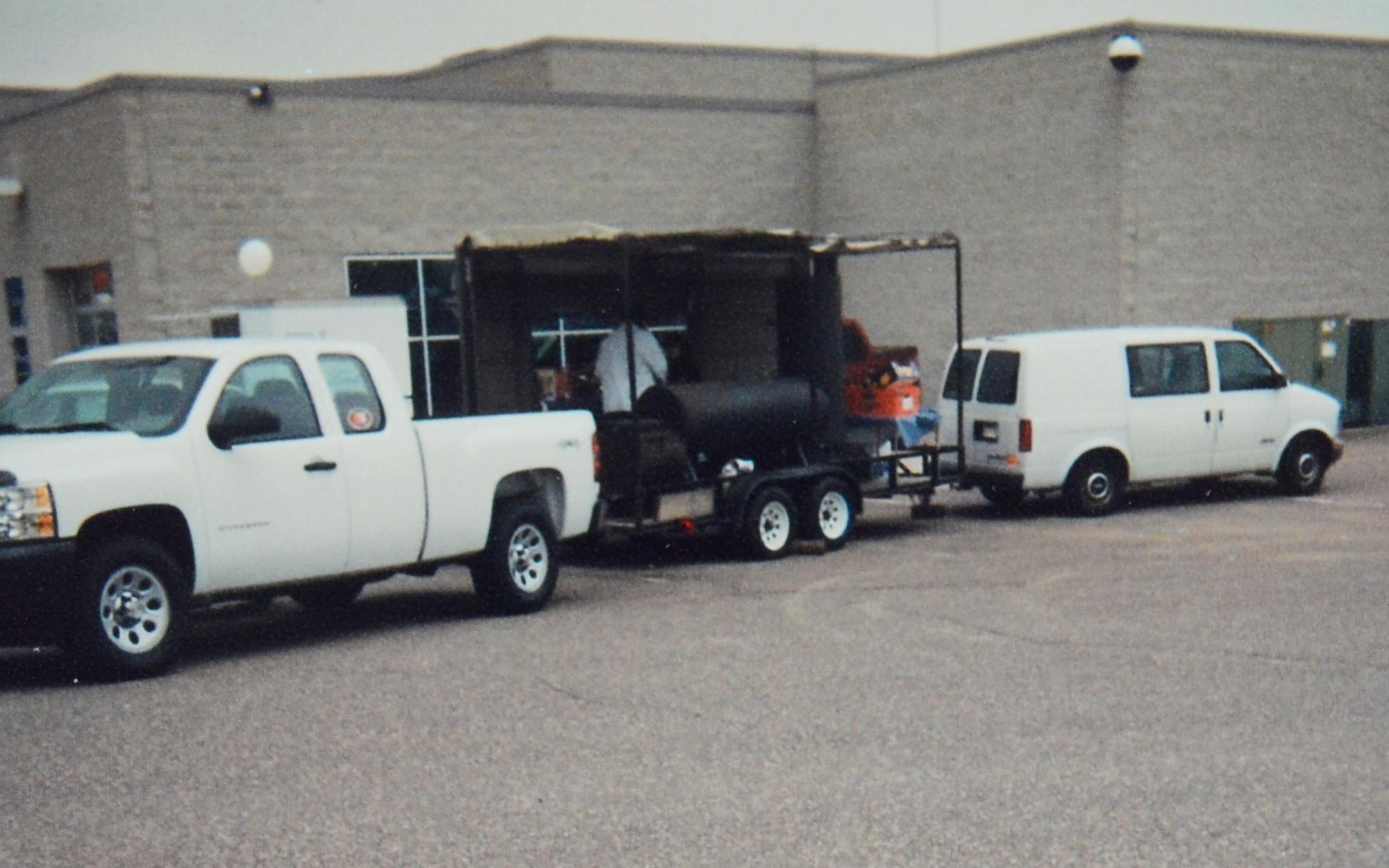hauling food stand