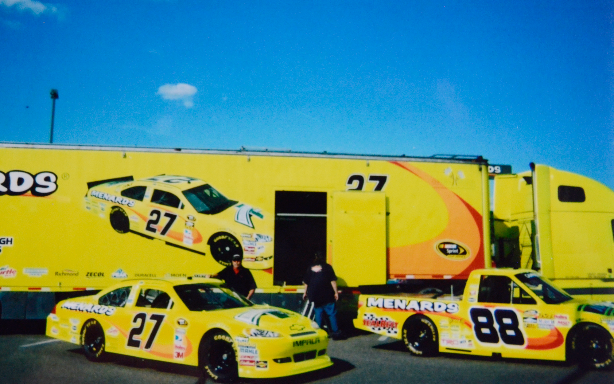 race car and race truck